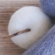 "Load image into Gallery viewer, Felted Wool Apple- 3"" Large in Ochre, Grey or Natural  CF3182A"