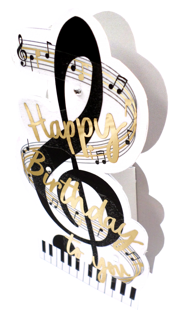 Second Nature Birthday Card- Music Notes  #PDZ047