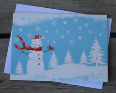 Happy Snowman Deluxe Boxed Holiday Cards (20)