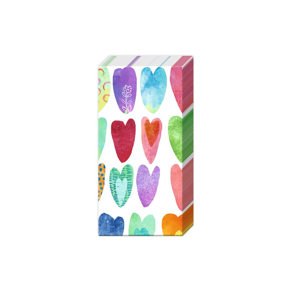 IHR Hankies- Rainbow Hearts  #PT844300