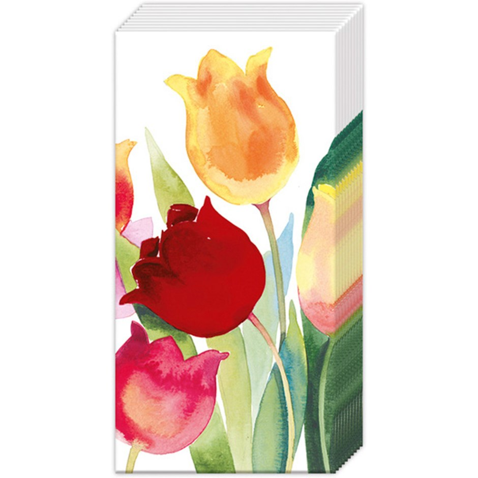 IHR Hankies- Powerful Tulips  #PT898100
