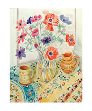 Load image into Gallery viewer, Richard Bawden- Watercolour: Pots & Anemones   RB1444