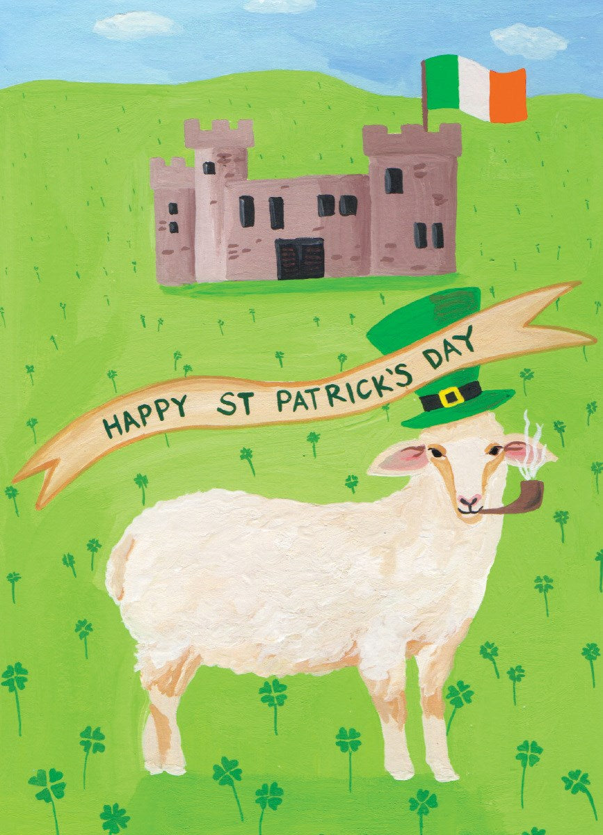 St. Patrick's Day Card- Calypso: Irish Sheep    #CS319