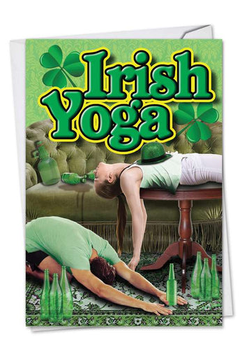 St. Patrick's Day Card- NobleWorks: Irish Yoga C1634SPG