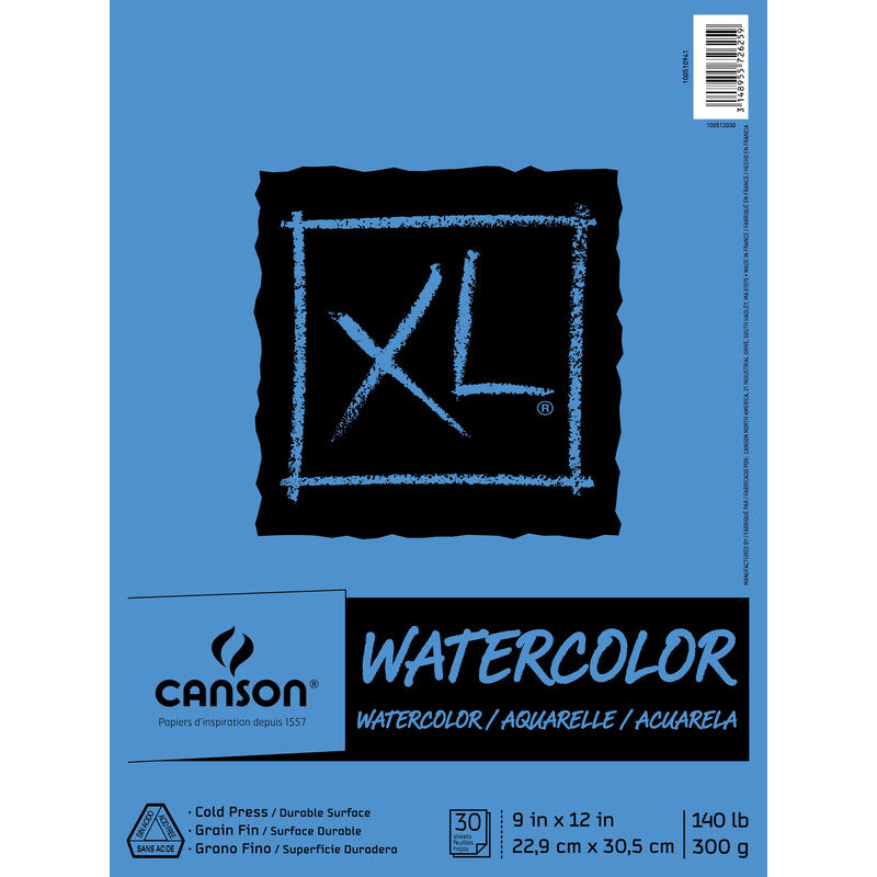 Canson XL Watercolour Paper C9x12 Coil Bound #17068375