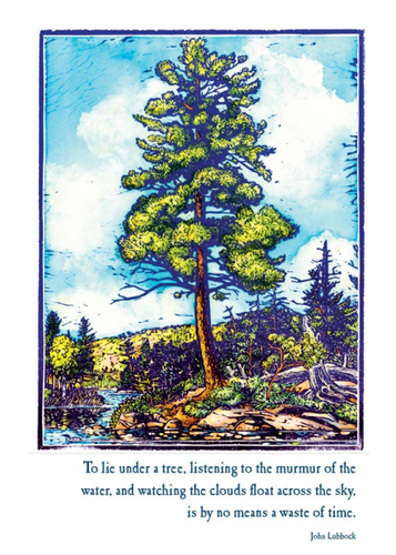 Artists to Watch Birthday Card: Tree Against the Sky   #CK521B