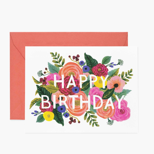Birthday Card- Rifle Paper Co: Juliet Rose #B-49