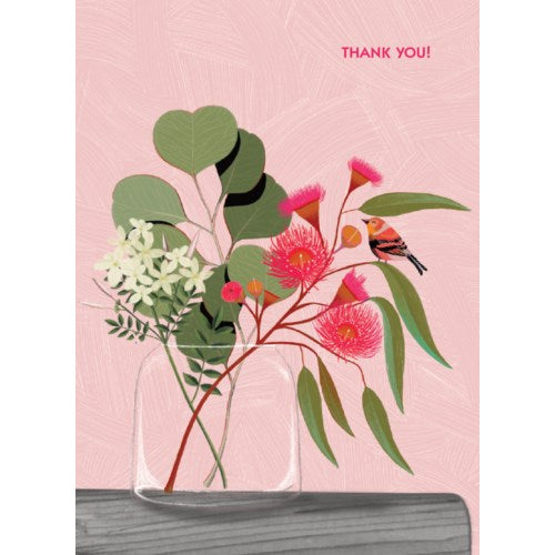 Thank You Card- Calypso: Pink Flower  #CC1575