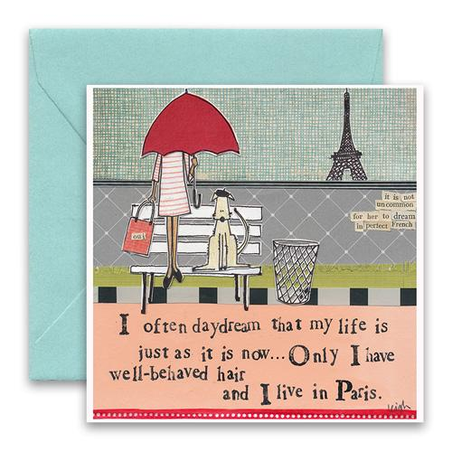 Friendship Card- Curly Girl: Paris   #SQLS31