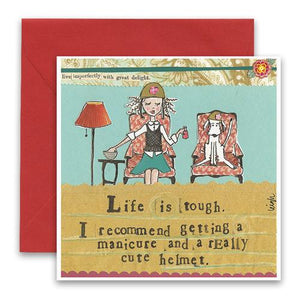 Friendship Card- Curly Girl: Life is Tough   #SQLT13
