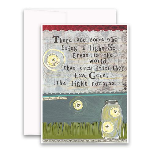 Sympathy Card- Curly Girl: The Light Remains    #SSNC36