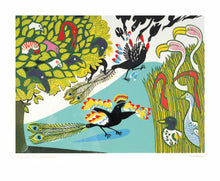 Load image into Gallery viewer, Edward Bawden (1903-1989)- Linocut: Daw in Borrowed Feathers    EB1188
