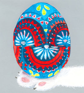 Easter Card- Dear Hancock: Hand Painted Egg  #GC312