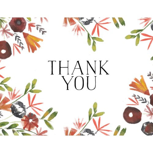 Thank You Card- Halfpenny Postage: Floral  #HP476