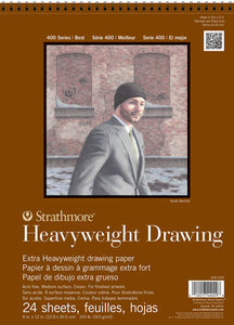 "Strathmore Heavyweight Drawing Paper: C9"" x 12""  #400-209"