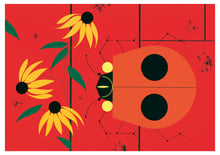 Load image into Gallery viewer, Charley Harper: Ladybugs Boxed Notecard Assortment  #0563