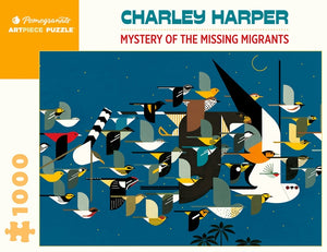 Pomegranate Jigsaw Puzzle- Charley Harper: Mystery of the Missing Migrants   AA443