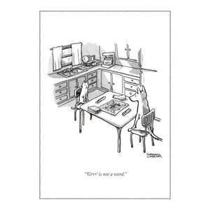 Humourous Card- The New Yorker: Scrabble   NYC216