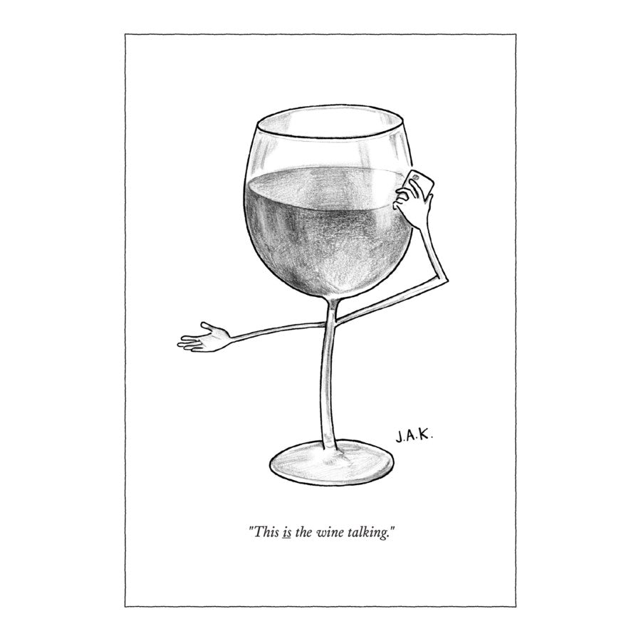 Humourous Card- The New Yorker: The Wine Talking   NYC255