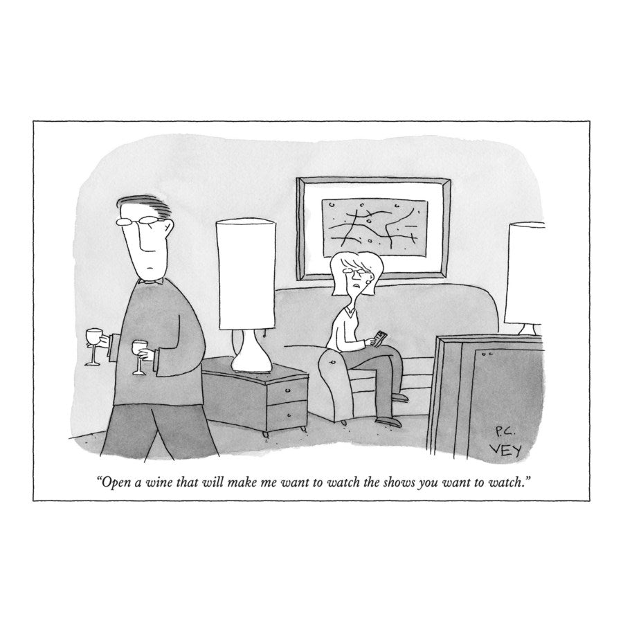 Humourous Card- The New Yorker: Open a Wine...   NYC340