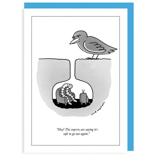 Humourous Card- The New Yorker: Safe to Go Out   NYC359