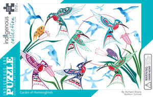 Indigenous Artists Jigsaw Puzzle- Garden of Hummingbirds  POD2287PZL