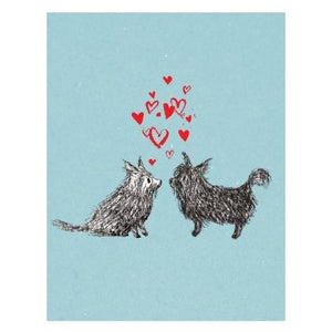 Love Card- Halfpenny Postage: Dog Hearts  #HP409