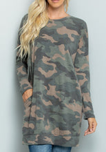 Load image into Gallery viewer, Camouflage Tunic Top