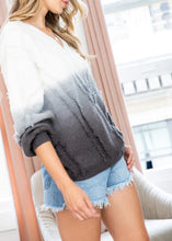 Load image into Gallery viewer, Ombré Sweater with Fringe detail