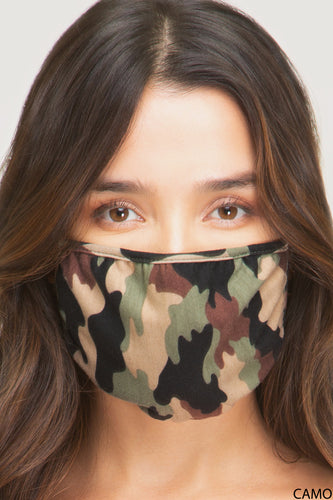 Green Multi Camouflage Facial Mask Face Covering