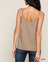 Load image into Gallery viewer, Eyelet Lace 100% cotton Cami Top with adjustable straps S M L