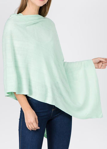 Lightweight Spring Sweater Multi-wear poncho One Size Many colors