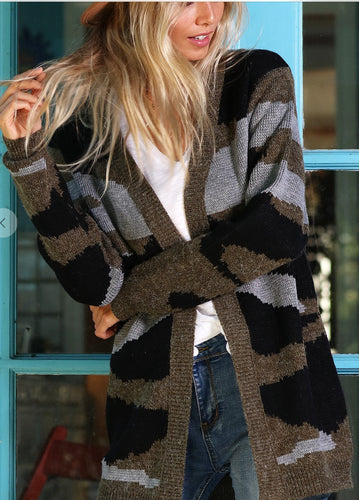 Camouflage Open Cardigan