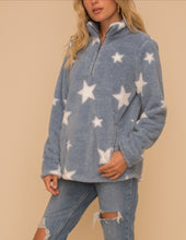 Load image into Gallery viewer, Star Sherpa Sweater/Jacket