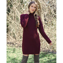 Load image into Gallery viewer, Mud Pie Sparrow Burgundy Knit Sweater Dress