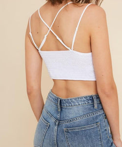 Inspired by Free People Adjustable Straps Comfy Bralette Top with padding