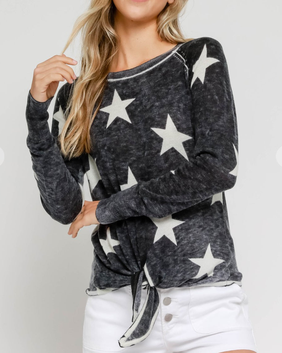 Burnout Star Sweater