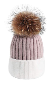 Wool Knit Beanie Hat