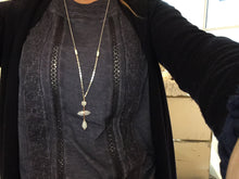Load image into Gallery viewer, Nakamol Chicago Silver & Rose Gold Moon Stone Long Necklace