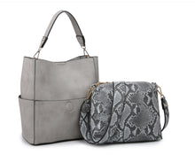 Load image into Gallery viewer, Jen & Co Soft Vegan Hobo Handbags with Guitar Strap