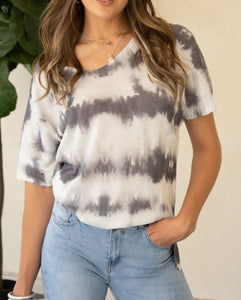 Tie Dye Sweater Top