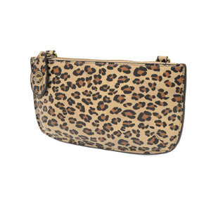 Soft Vegan Leopard Print Wristlet/Crossbody 2 colors