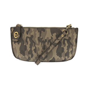 Soft Vegan Camo Print Wristlet Crossbody 2 colors