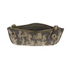 Load image into Gallery viewer, Soft Vegan Camo Print Wristlet Crossbody 2 colors