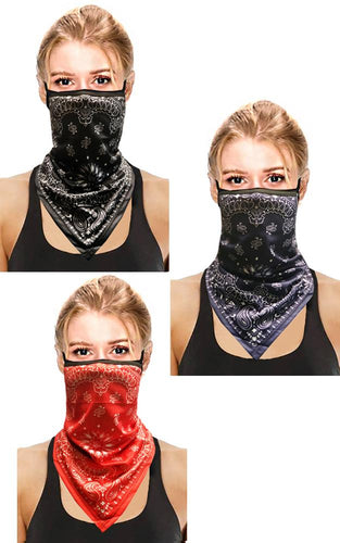 Neck Gaitor Multiway Breathable Washable Face Mask/Covering with Ear Loops