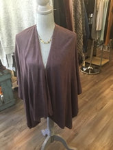 Load image into Gallery viewer, Heathered Bordeaux Cardi Wrap Poncho Putty