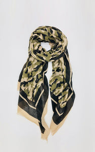 Camouflage 100% Cotton Oblong Scarf