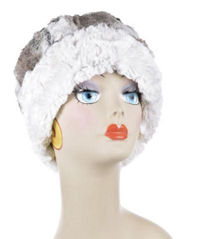 Pandemonium Reversible Cuffed Pillbox Faux Fur Hat