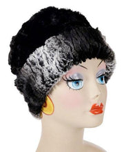Load image into Gallery viewer, Pandemonium Reversible Cuffed Pillbox Faux Fur Hat