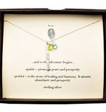 "Load image into Gallery viewer, Sterling Silver Genuine Stone Necklace by b.u Adjustable 16""-18"""